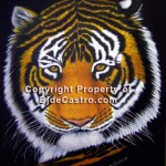 Tiger in Oil, painting by Bj. deCastro