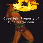 Fire Knife Dance, Hawaii by Bj. deCastro