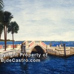 Vizcaya, Florida - watercolor painting by Bj. deCastro