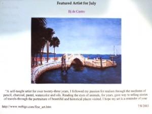 Bj. deCastro is Featured Artist at Webigo