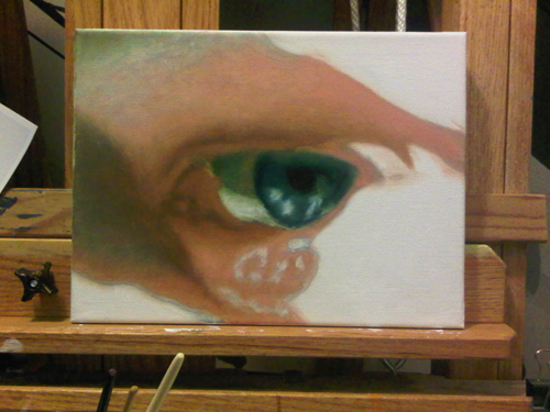 The Artist's Eye, oil painting by Bj. deCastro