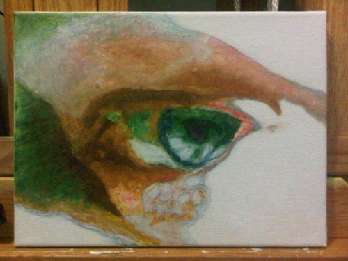 The Artist's Eye, oil on canvas by Bj. deCastro