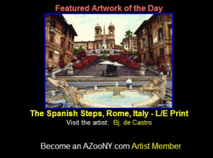 The Spanish Steps, Rome, Italy painting by Bj. deCastro is Art of the Day