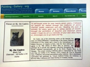 Painting Gallery focus on Bj. deCastro and Black Cat painting
