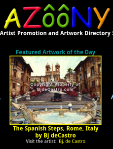 The Spanish Steps, by Bj. deCastro is featured art